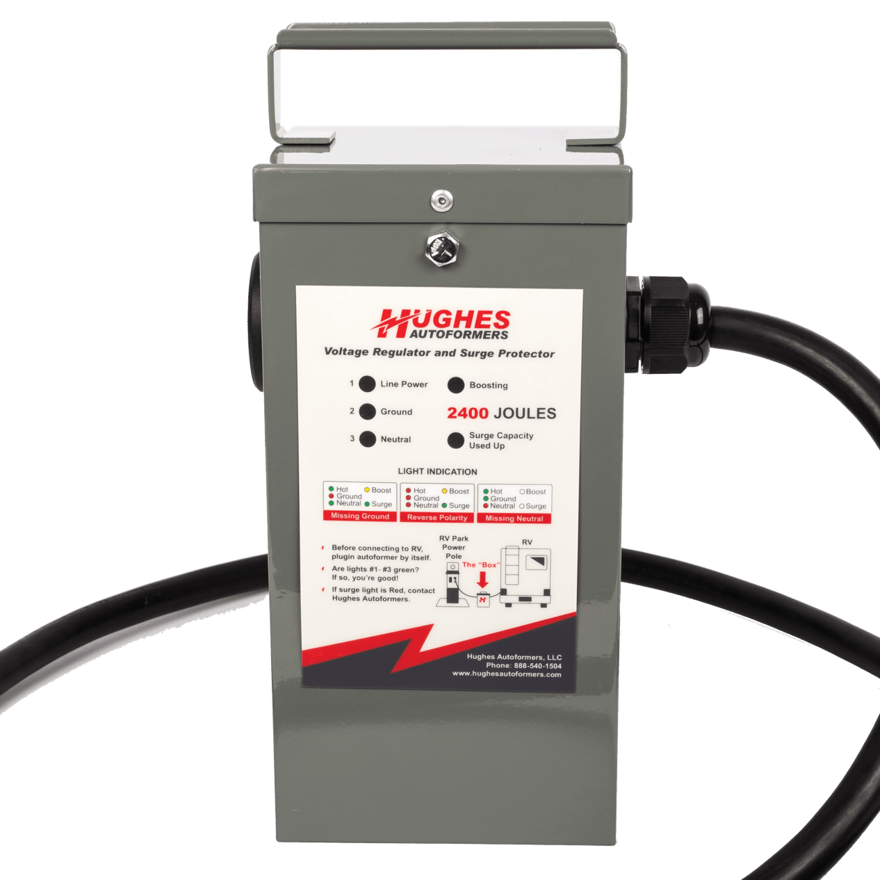 Hughes Autoformers The Original Low Voltage Boosting Solution 50 Amp Service For Rv 30 3600 Watt Booster With Advanced Surge Protection